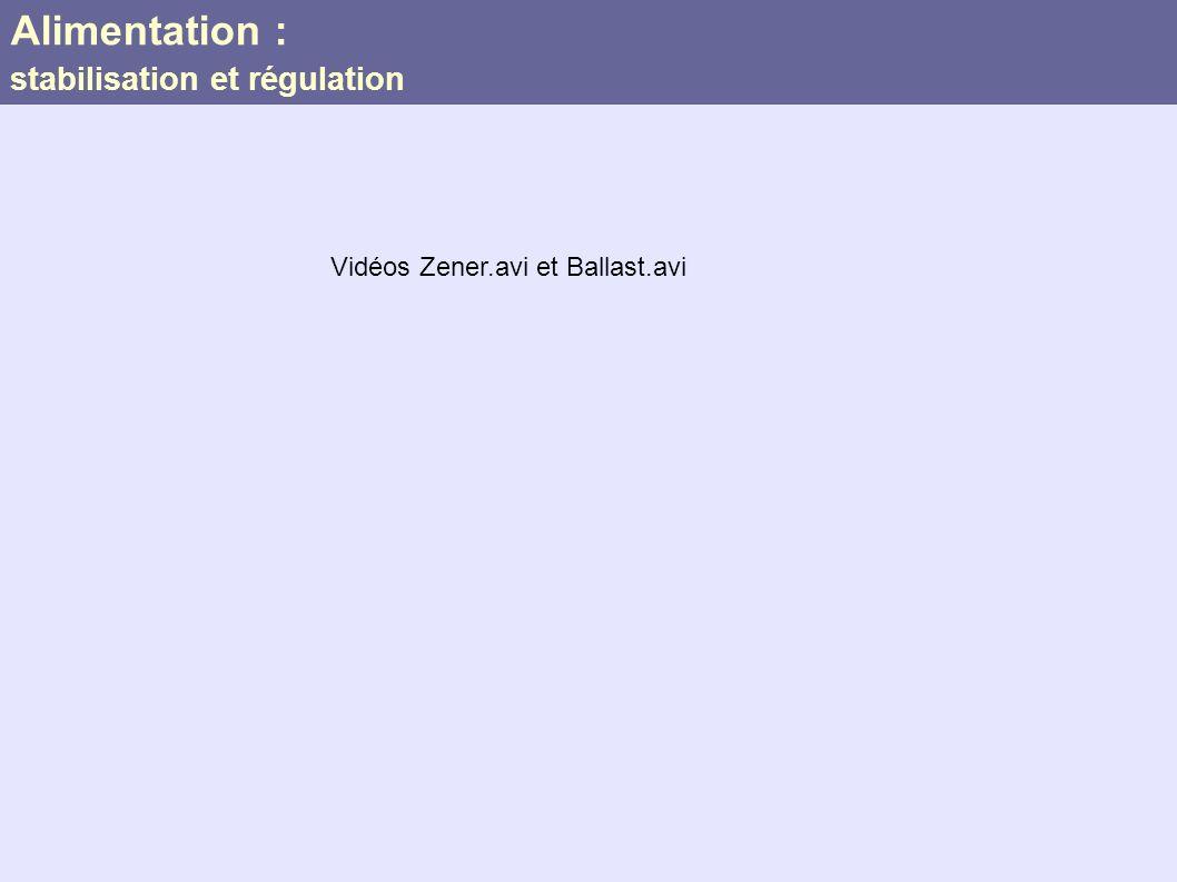 Alimentation : stabilisation et régulation