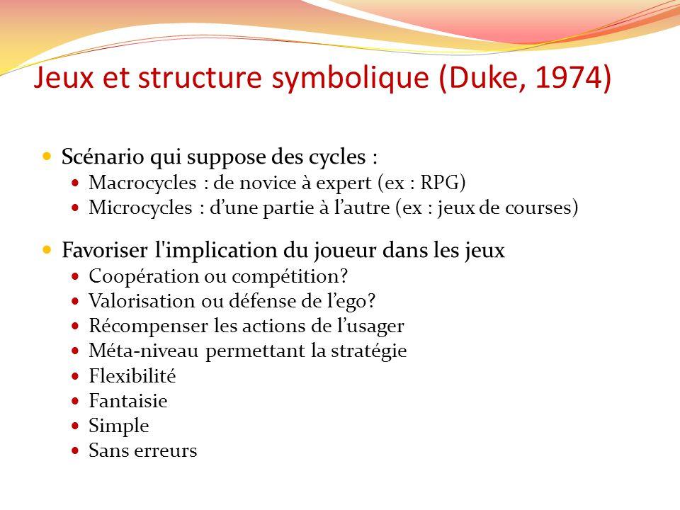 Jeux et structure symbolique (Duke, 1974)