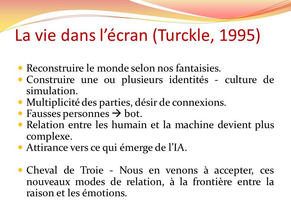 La vie dans l'écran (Turckle, 1995)