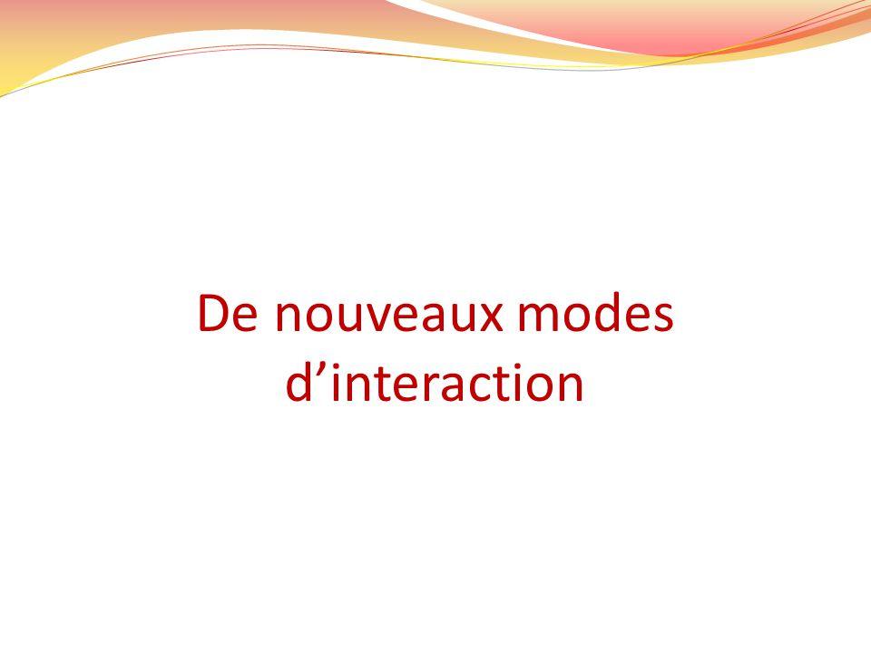De nouveaux modes d'interaction