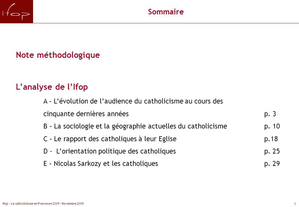 Note méthodologique L'analyse de l'Ifop Sommaire