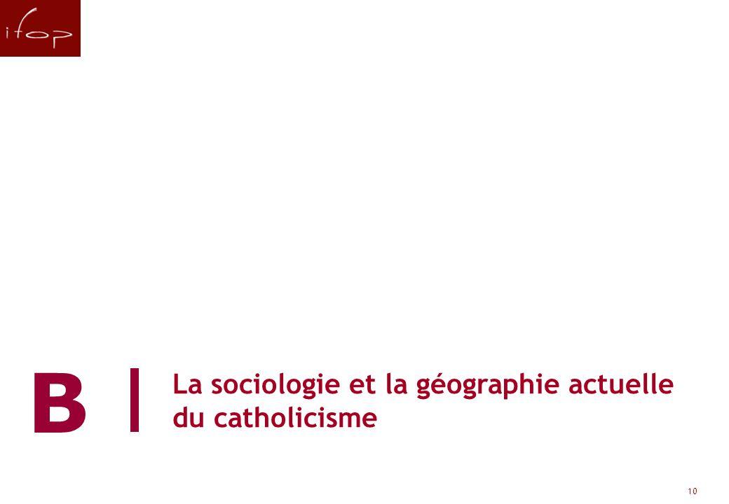 La sociologie et la géographie actuelle du catholicisme