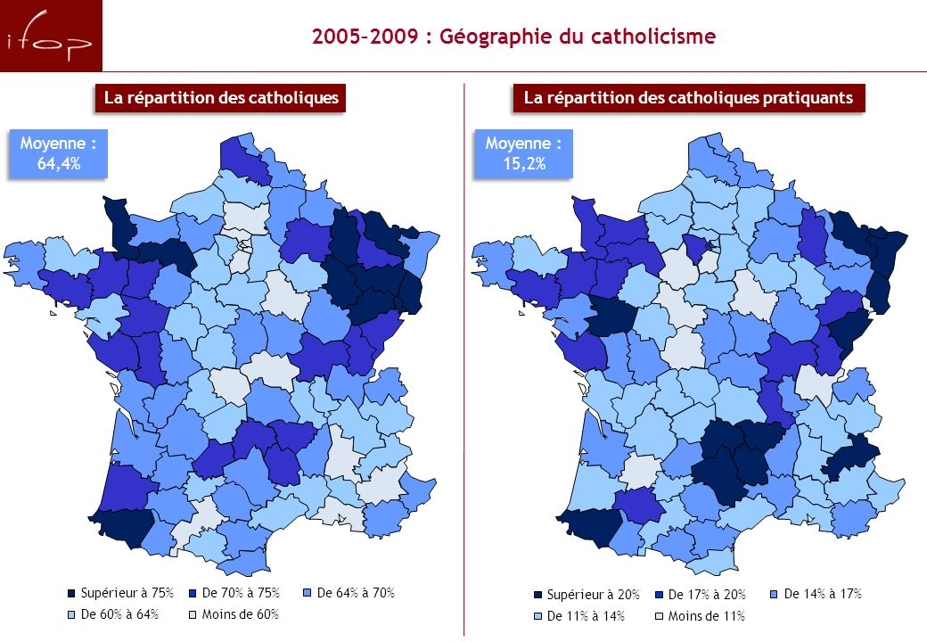 2005–2009 : Géographie du catholicisme