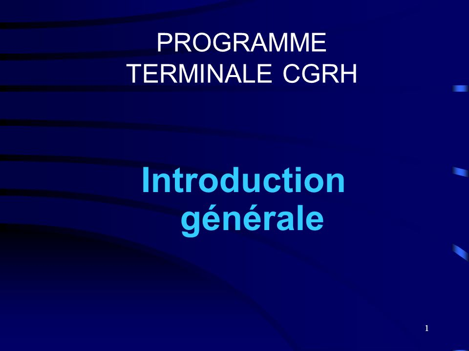 PROGRAMME TERMINALE CGRH