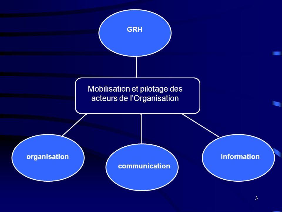 Mobilisation et pilotage des acteurs de l'Organisation