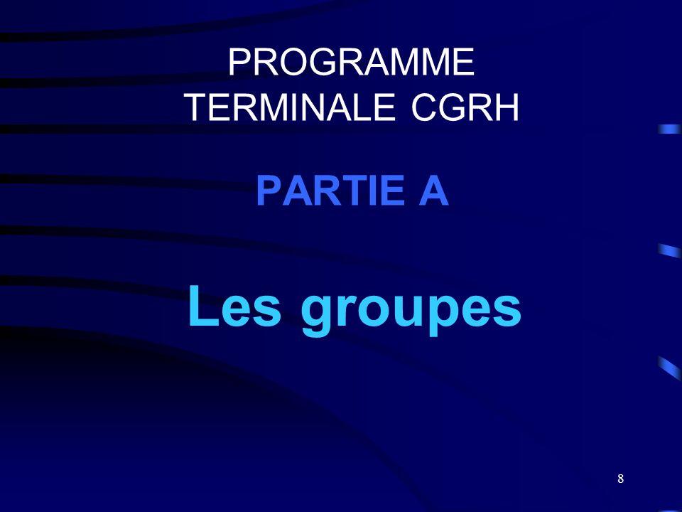 PROGRAMME TERMINALE CGRH PARTIE A