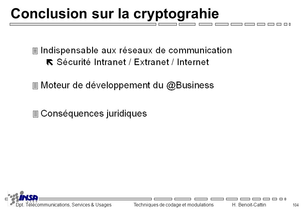 Conclusion sur la cryptograhie