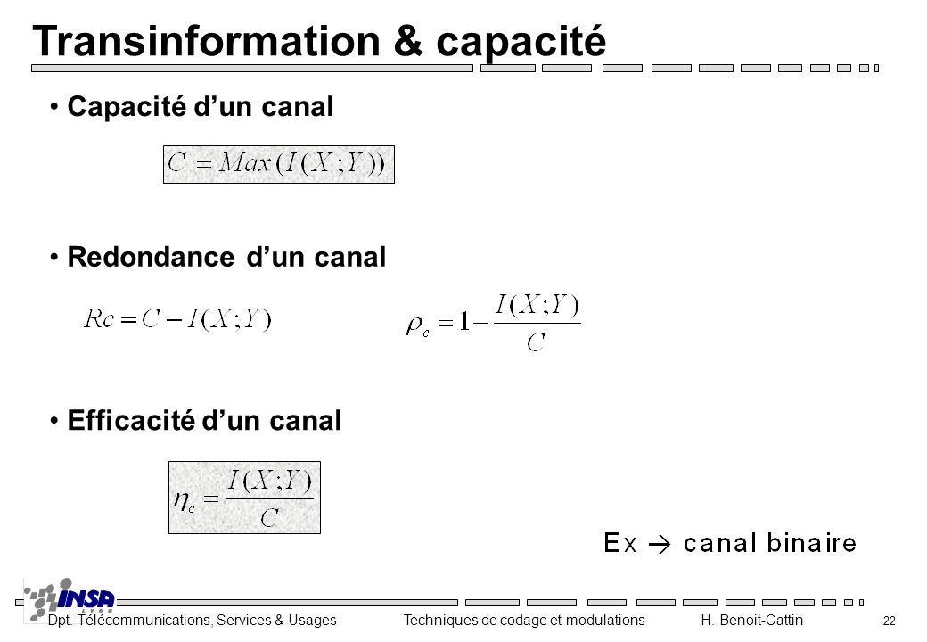 Transinformation & capacité