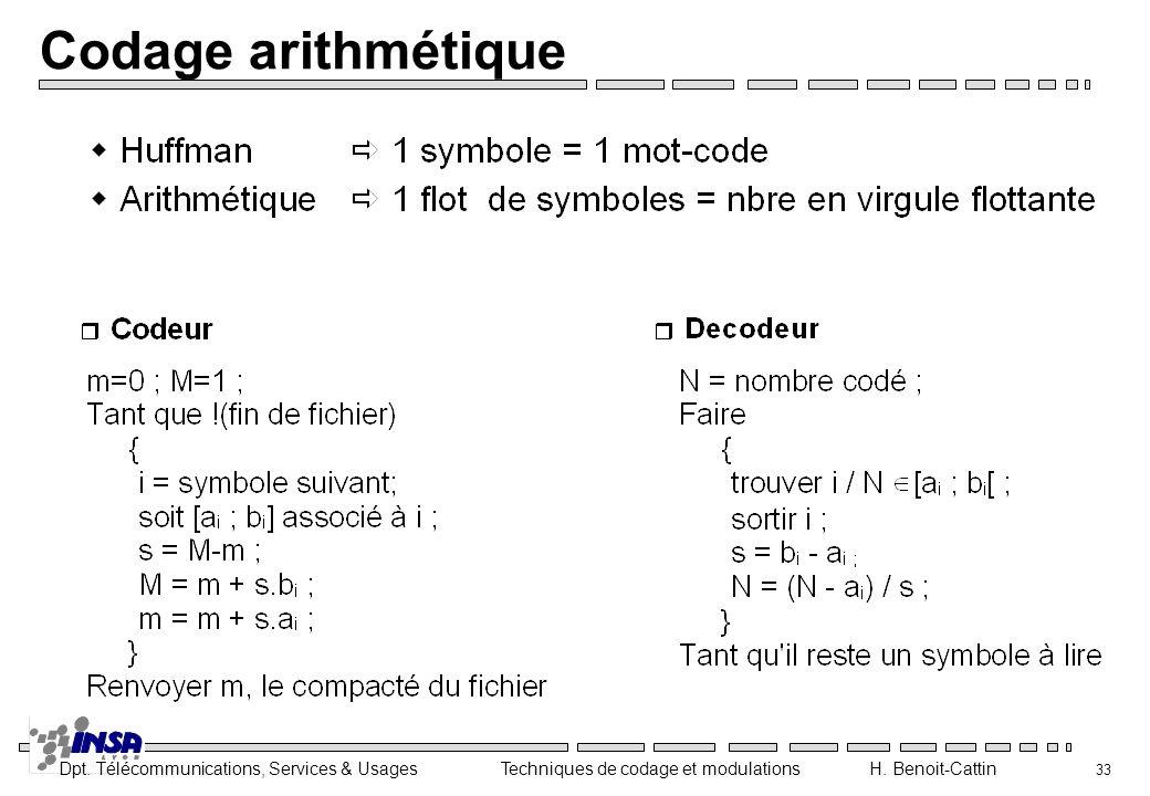 Codage arithmétique