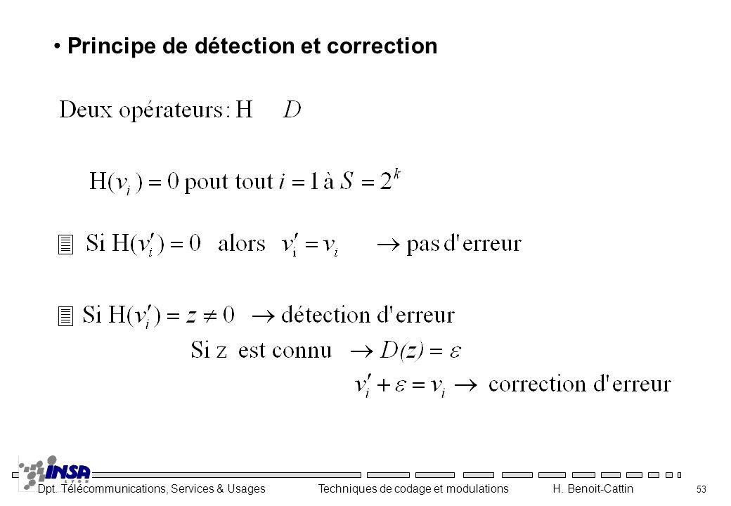Principe de détection et correction