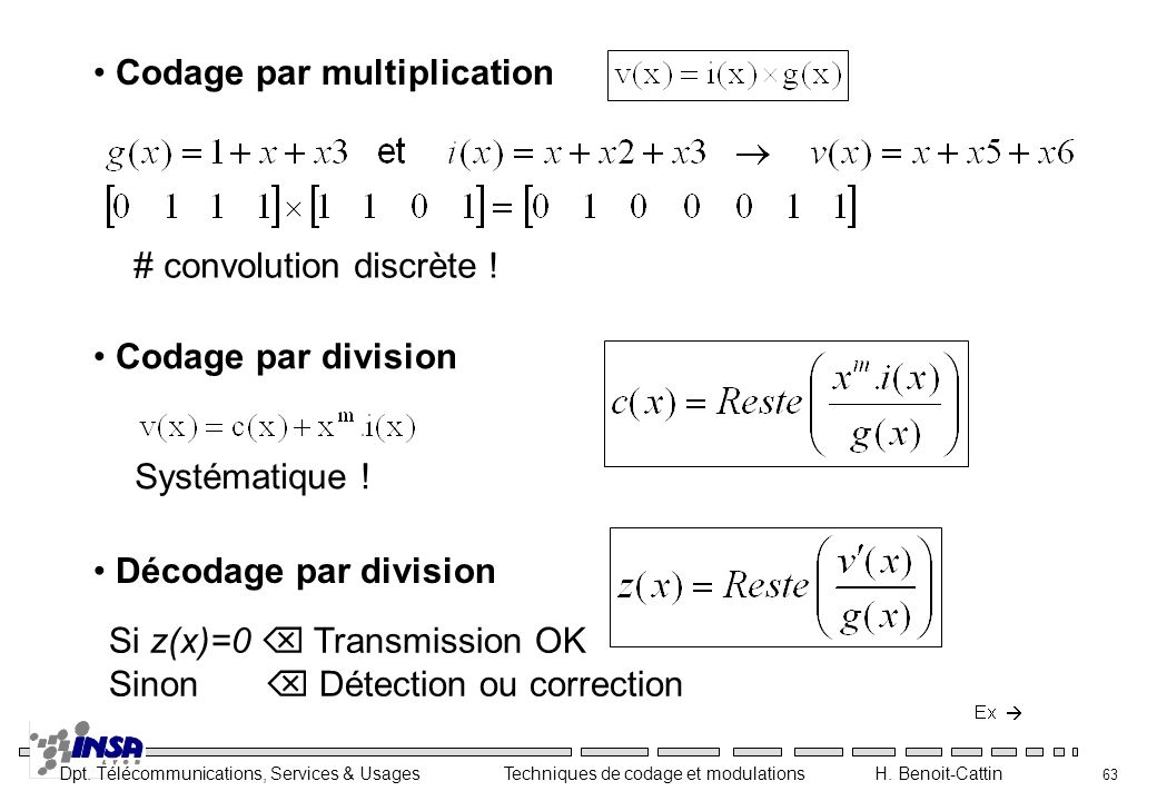 Codage par multiplication