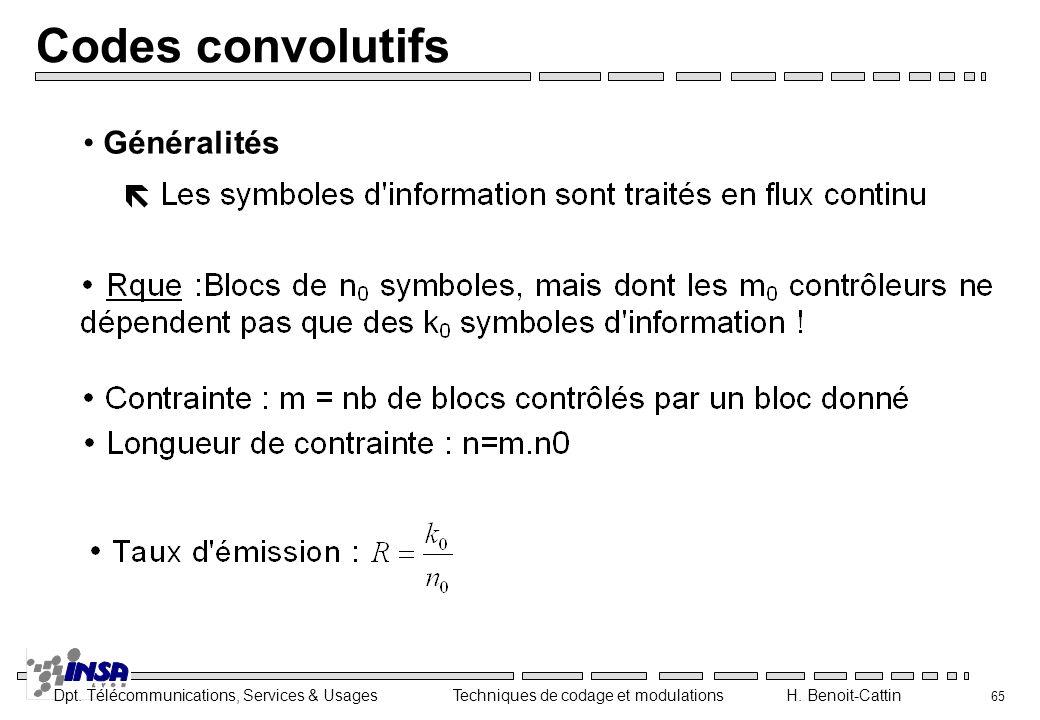 Codes convolutifs Généralités