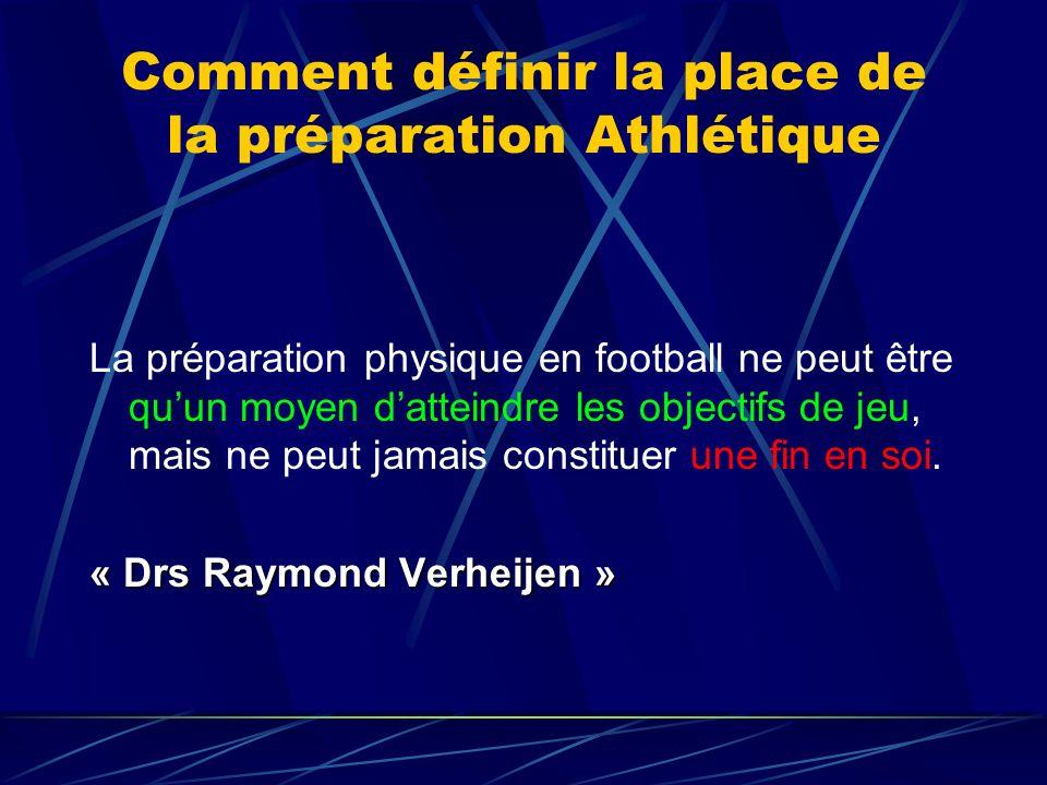 Comment définir la place de la préparation Athlétique