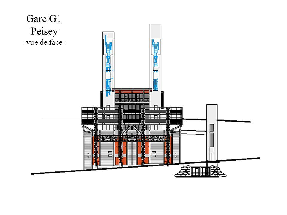 Gare G1 Peisey - vue de face -