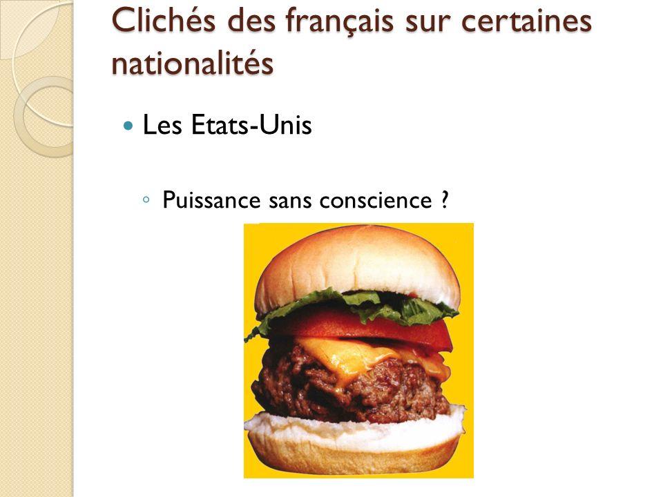 Clichés des français sur certaines nationalités