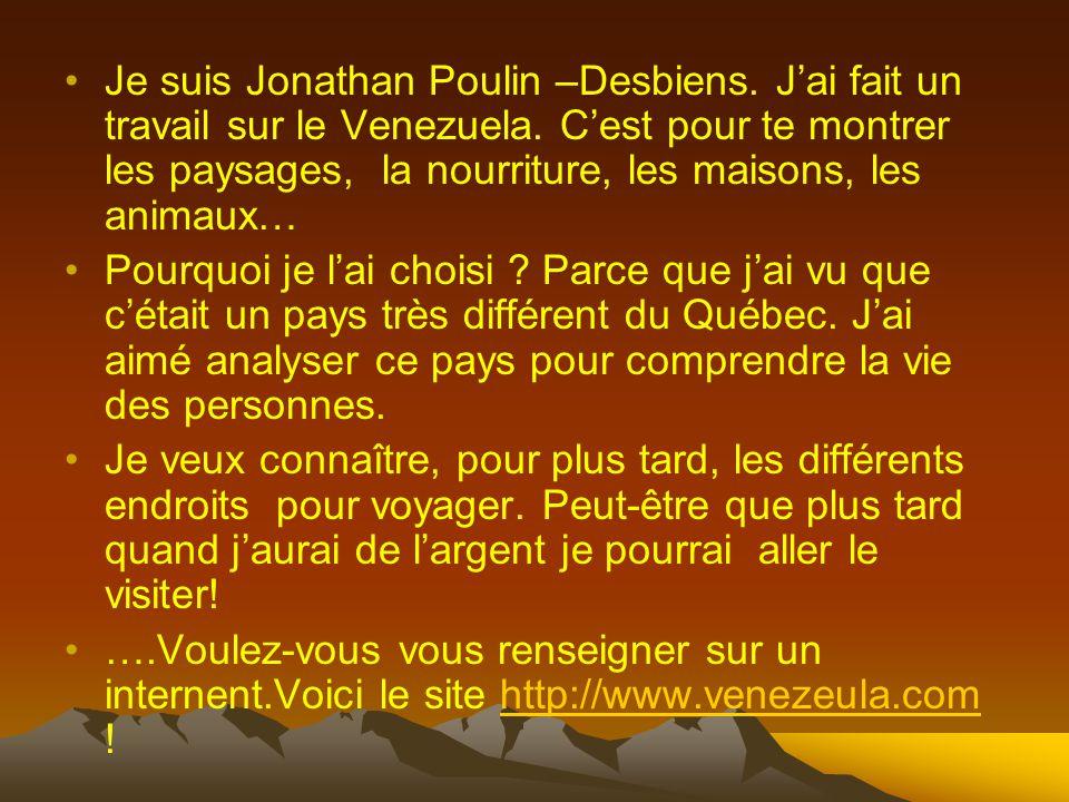 Je suis Jonathan Poulin –Desbiens