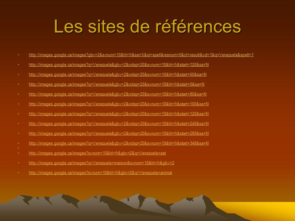 Les sites de références