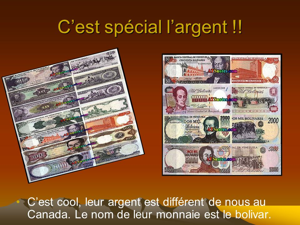 C'est spécial l'argent !!
