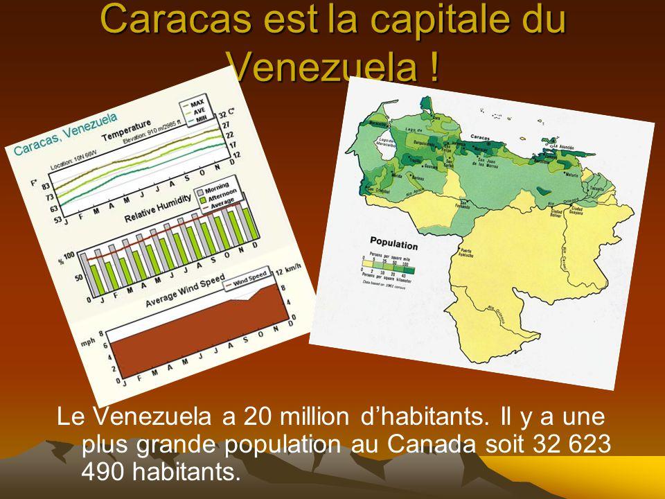 Caracas est la capitale du Venezuela !