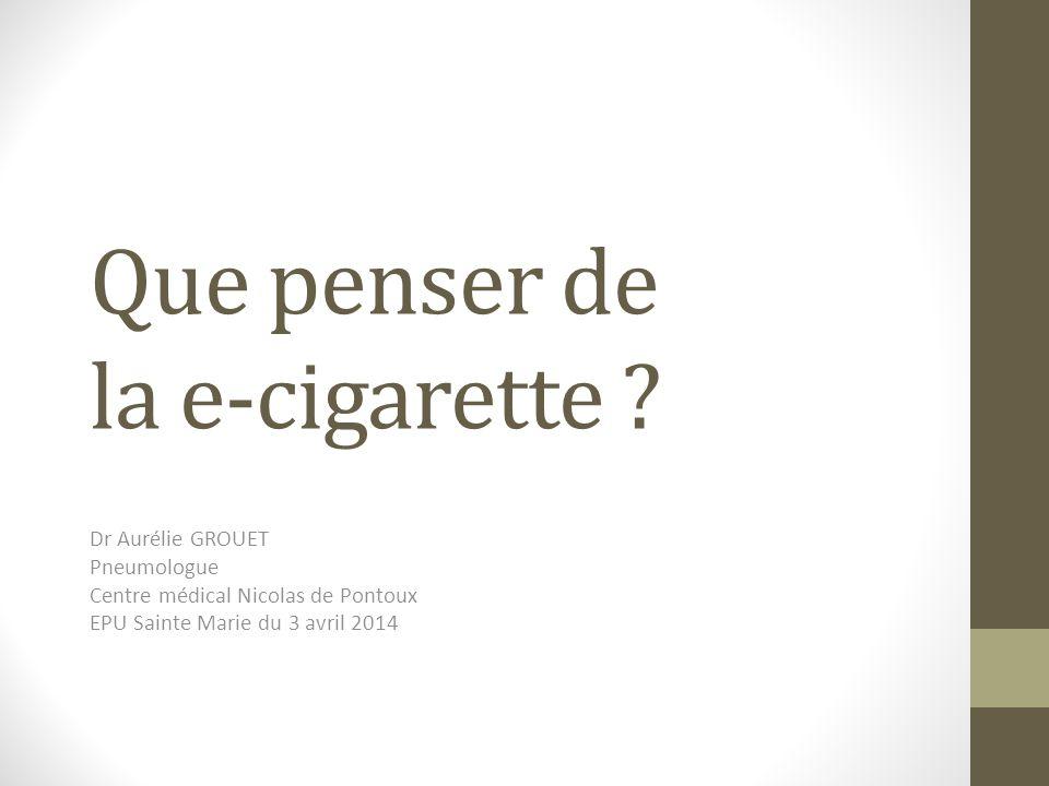 Que penser de la e-cigarette