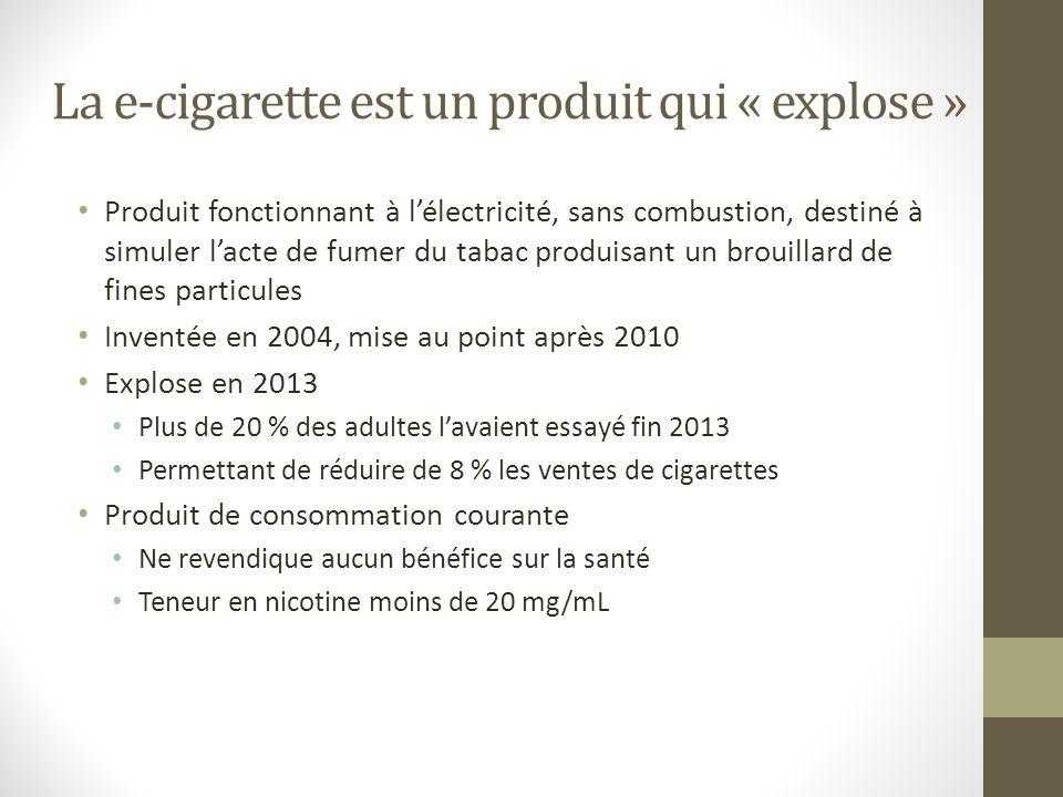 La e-cigarette est un produit qui « explose »
