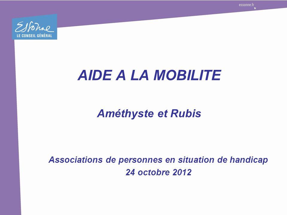 AIDE A LA MOBILITE Améthyste et Rubis