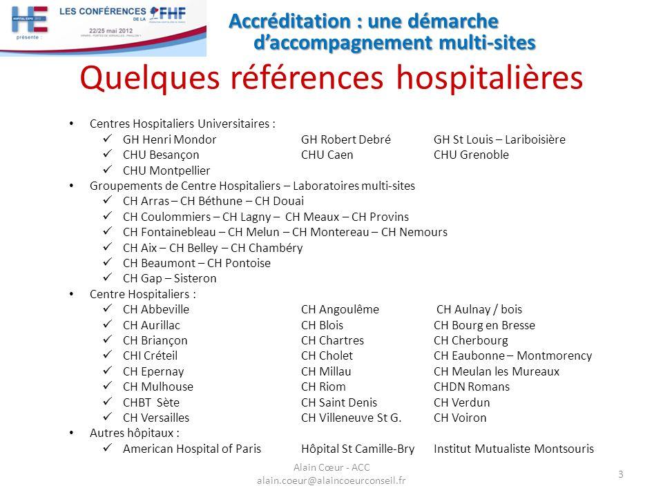 Quelques références hospitalières