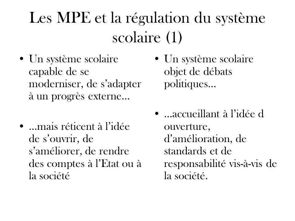 Les MPE et la régulation du système scolaire (1)