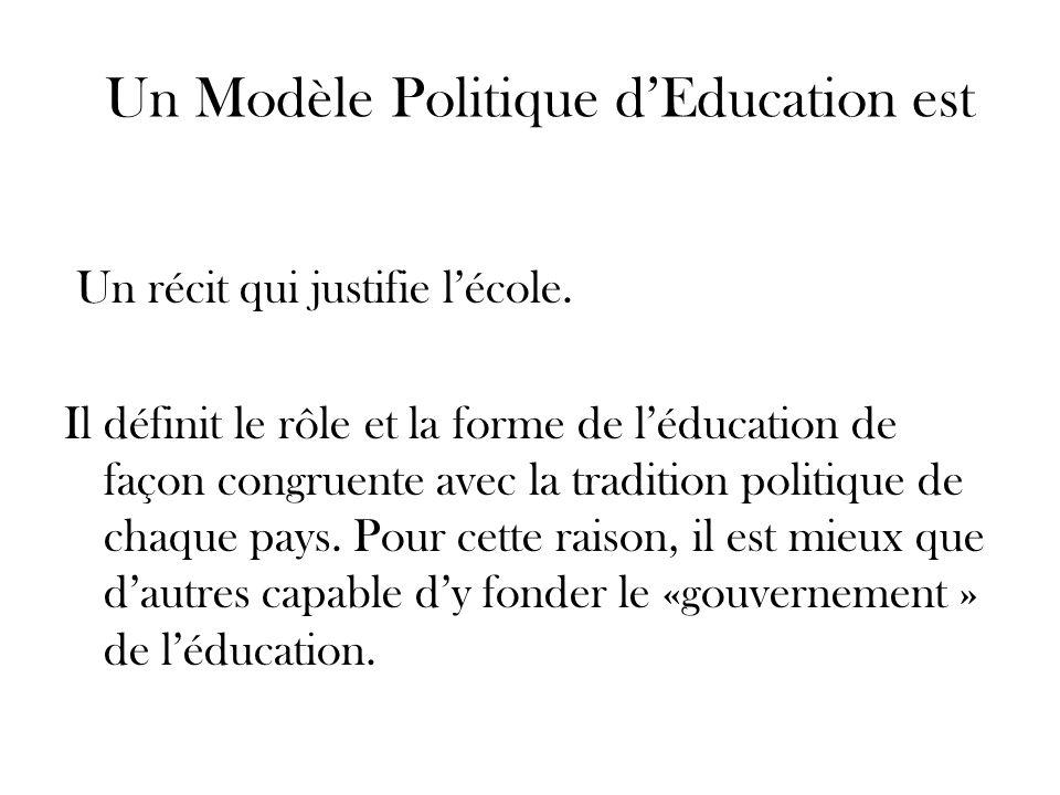 Un Modèle Politique d'Education est