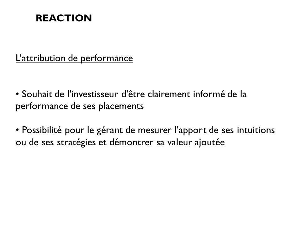 L'attribution de performance
