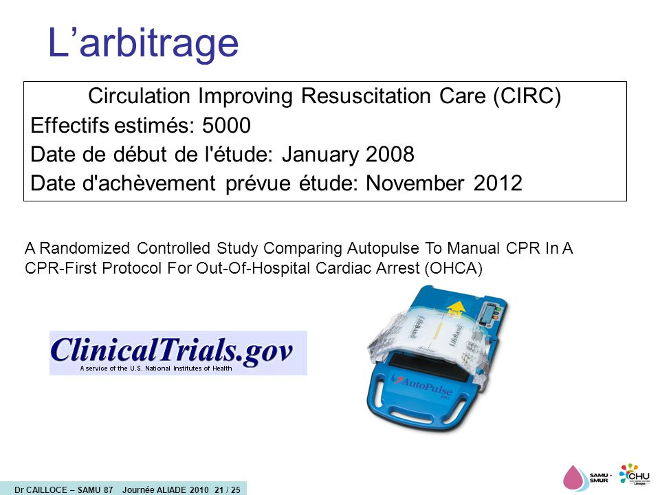 Circulation Improving Resuscitation Care (CIRC)