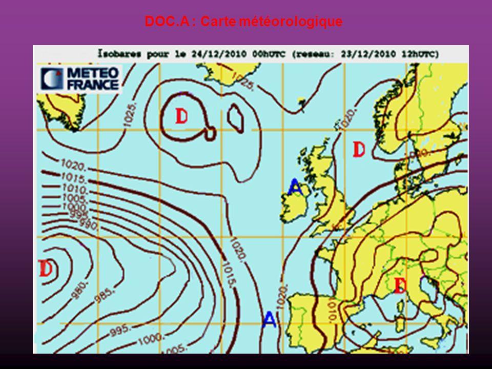 DOC.A : Carte météorologique
