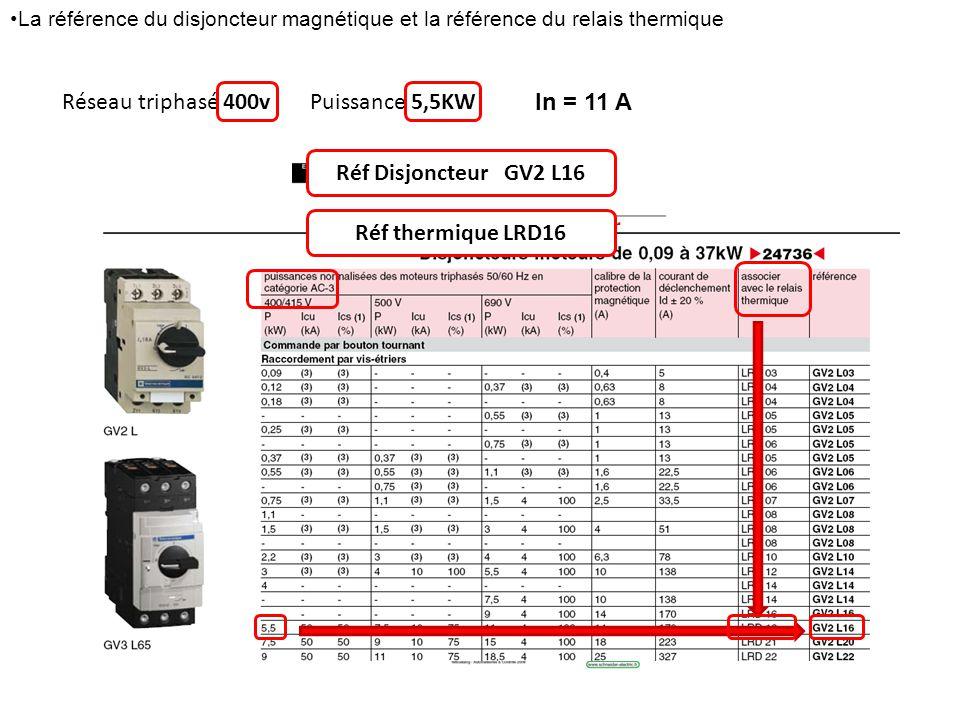 Réf Disjoncteur GV2 L16 Réf thermique LRD16