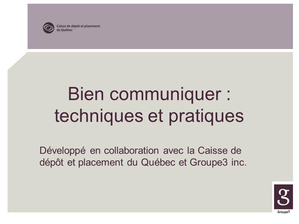 Bien communiquer : techniques et pratiques