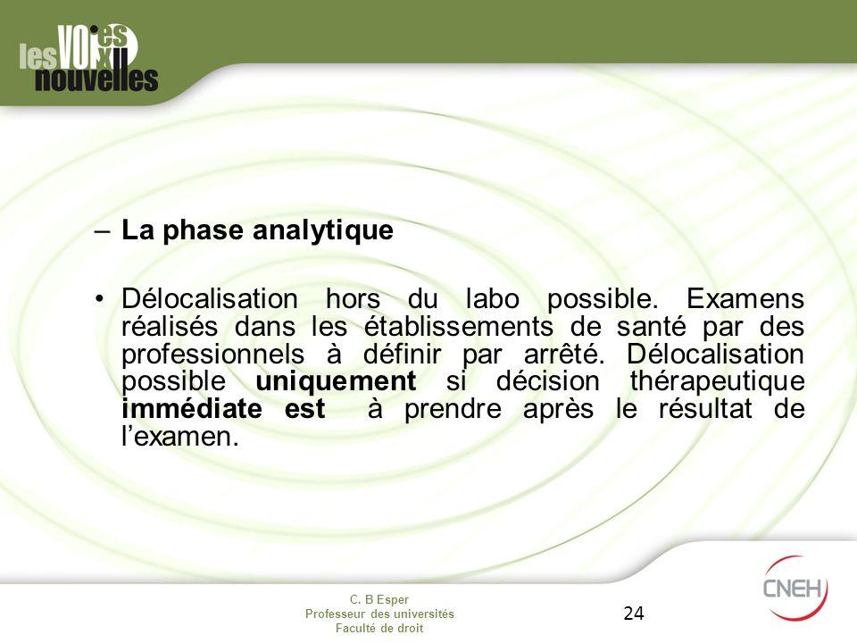 La phase analytique