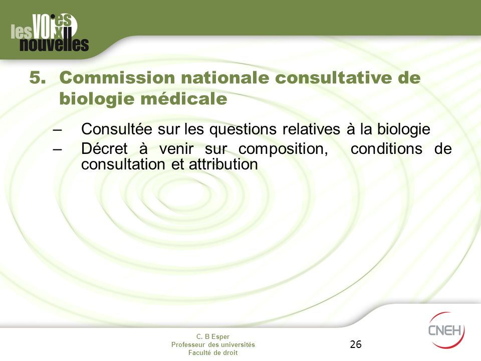 Commission nationale consultative de biologie médicale