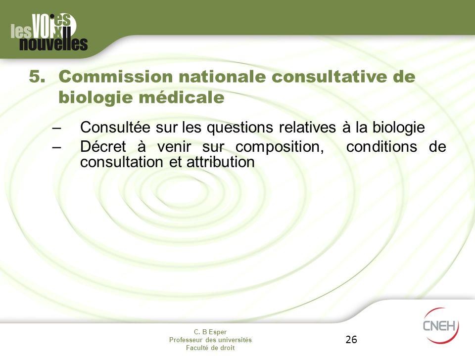 Commission nationale consultative de biologie médicale