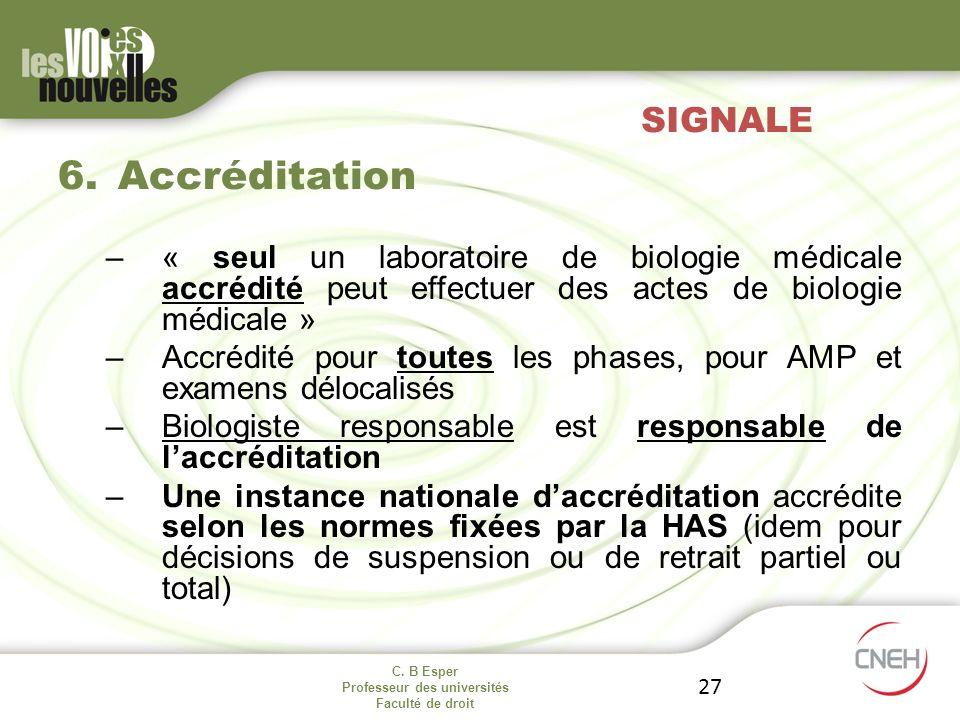 Accréditation SIGNALE