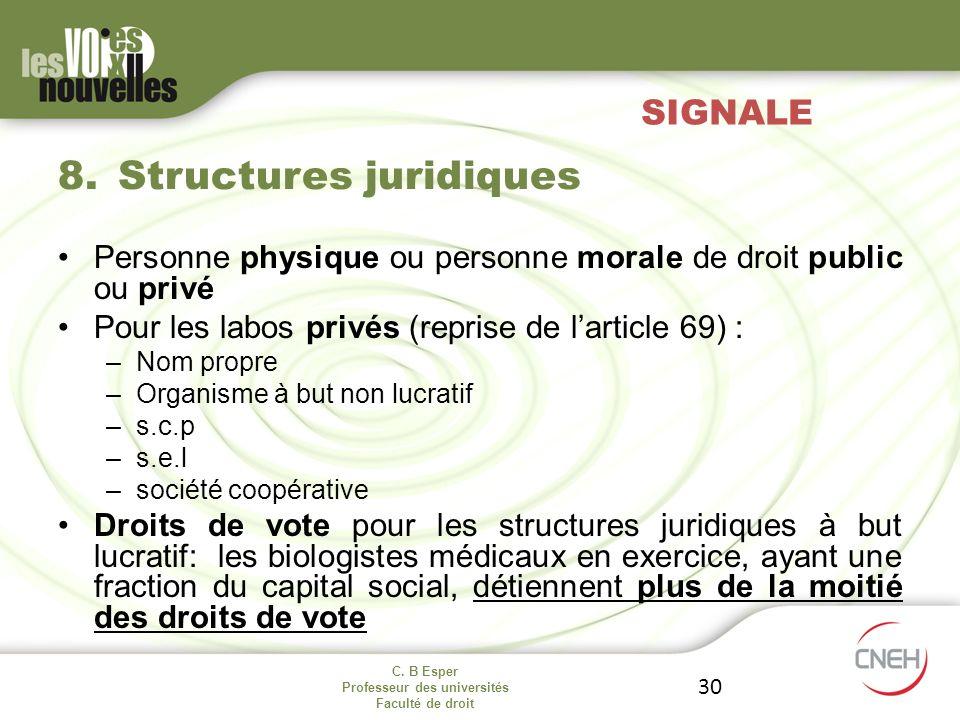Structures juridiques