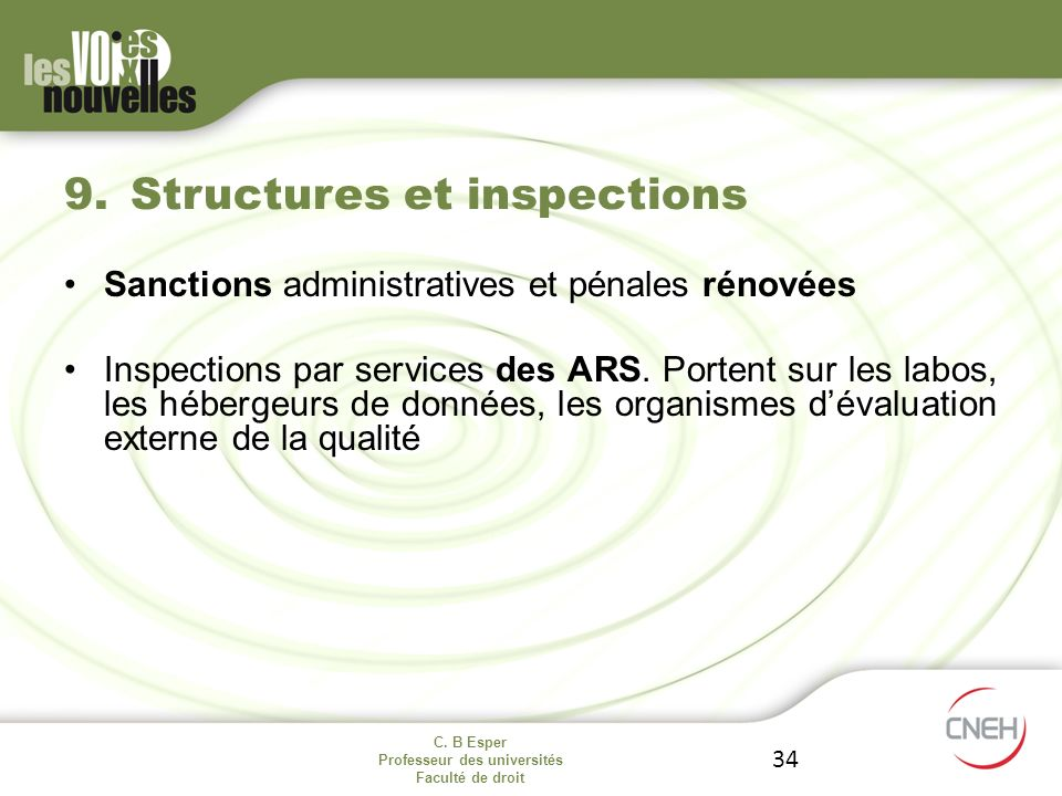 Structures et inspections