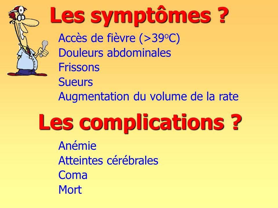 Les symptômes Les complications