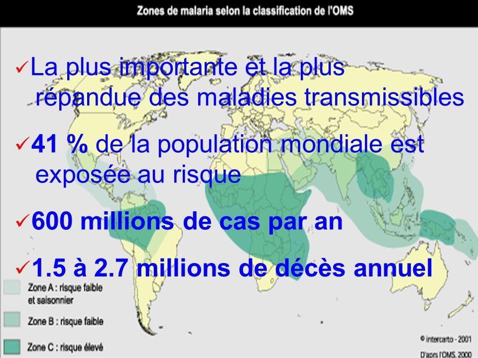 41 % de la population mondiale est exposée au risque