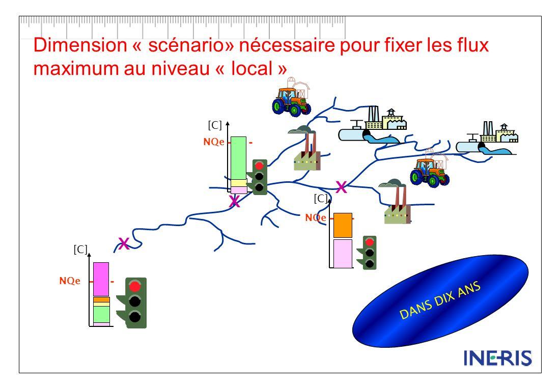 Dimension « scénario» nécessaire pour fixer les flux maximum au niveau « local »