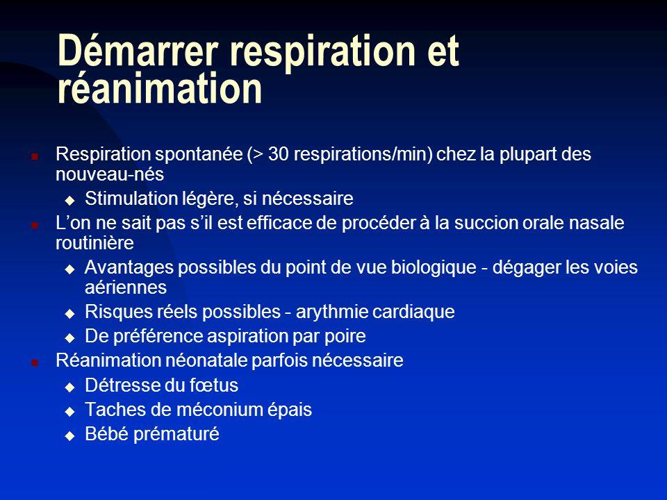 Démarrer respiration et réanimation