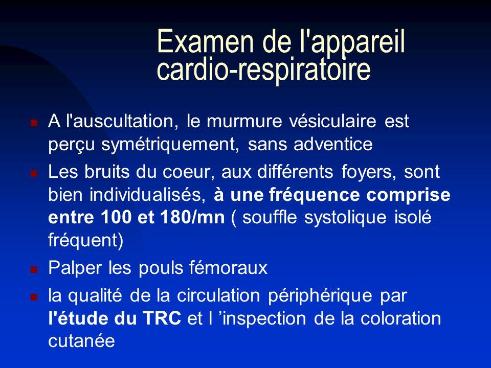 Examen de l appareil cardio-respiratoire
