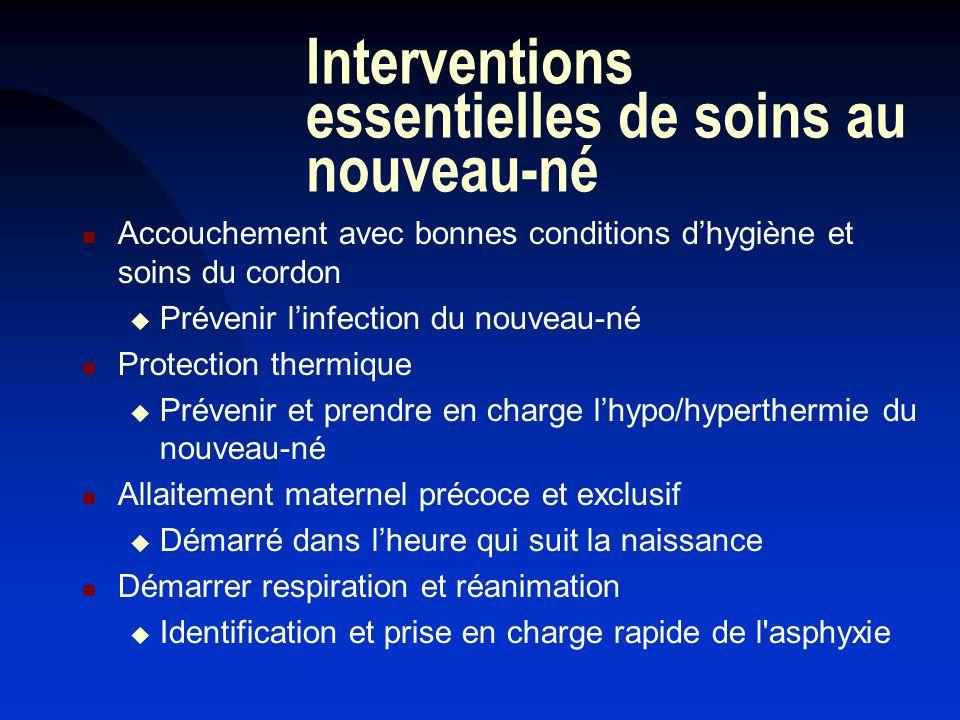 Interventions essentielles de soins au nouveau-né