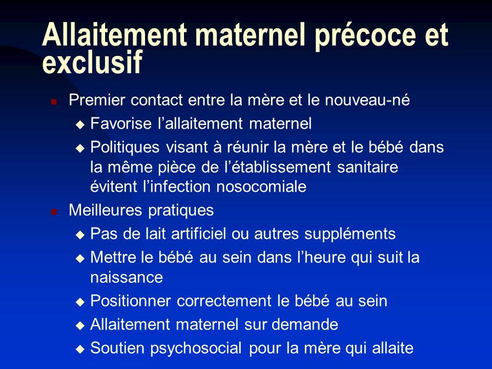 Allaitement maternel précoce et exclusif