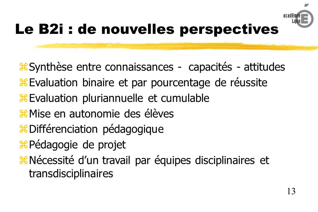 Le B2i : de nouvelles perspectives