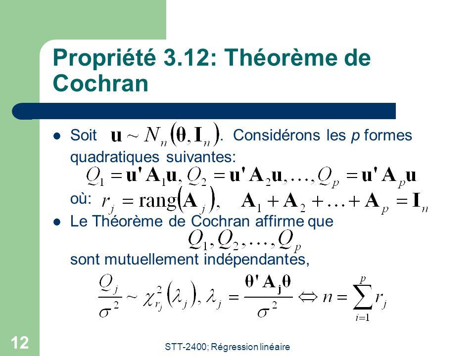 Propriété 3.12: Théorème de Cochran