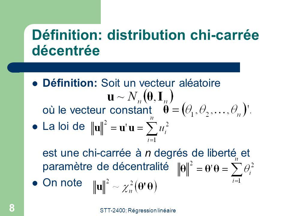 Définition: distribution chi-carrée décentrée